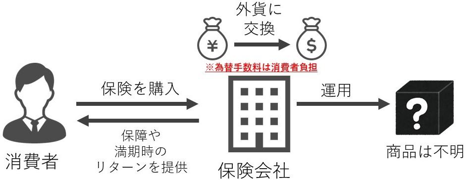 外貨建て保険購入フロー