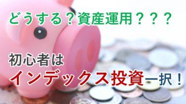 初心者が資産運用を始めるならインデックス型投資信託一択です!
